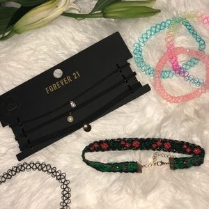 8 piece Forever 21 Chokers Bundle